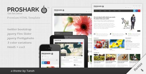 Proshark Responsive Corporate HTML Template Corporate