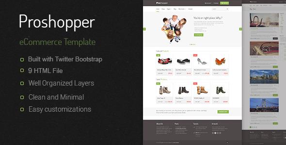 Proshoper - eCommerce HTML Template Retail