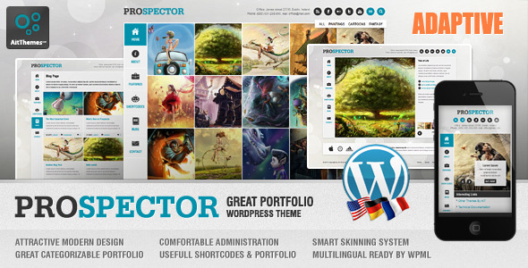 Prospector Responsive Portfolio Wordpress Theme Creative