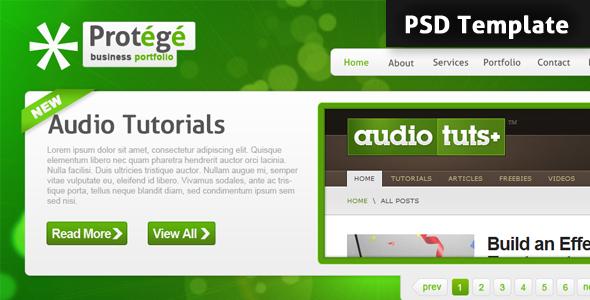 Protégé PSD Template Personal PSDTemplates