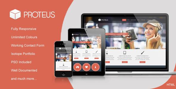 Proteus - Responsive Multipurpose HTML Theme Template Corporate