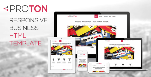 Proton - Responsive HTML Business Website Template Corporate