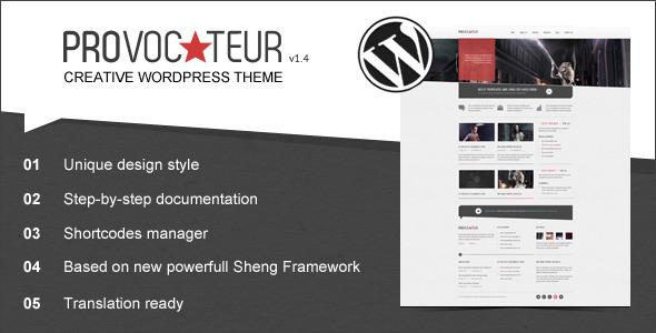 Provocateur - Creative Wordpress Theme Creative