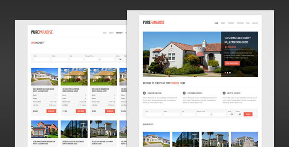 Pure Paradise - Clean Real Estate HTML Template Corporate
