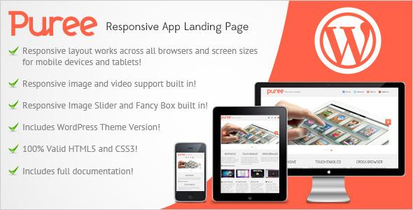 Puree Responsive App Landing Page LandingPages Landing Page