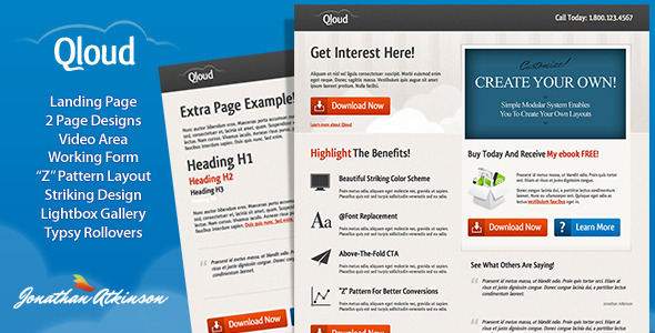 Qloud Landing Page