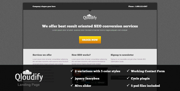 Qloudify Business Landing Page LandingPages Landing Page