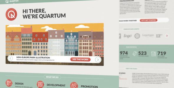Quartum Site Template Creative