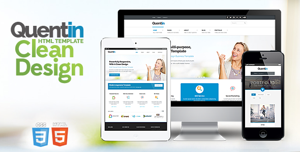 Quentin - Premium Multipurpose Responsive Template Corporate