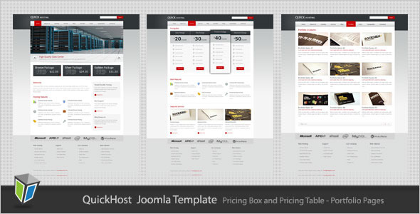 Quick Host - Business and Hosting Joomla Template Technology