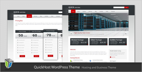 Quick Host - Business and Hosting WordPress Theme Technology