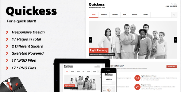 Quickess Corporate  HTML Template Corporate