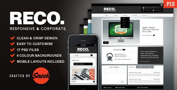 RECO - Corporate PSD Template Corporate