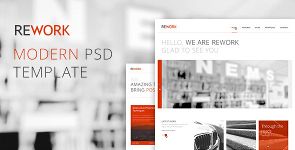 REWORK - Modern PSD Template Corporate