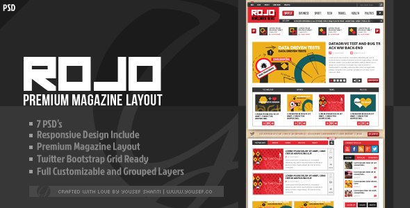 ROJO | Magazine/News PSD Template Miscellaneous