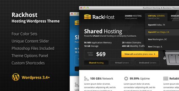Rackhost Hosting WordPress Theme Technology