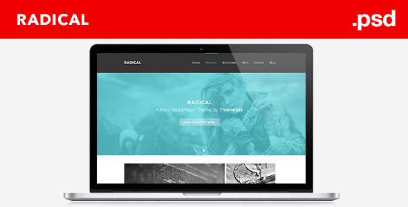 Radical - Single Page PSD Template Corporate