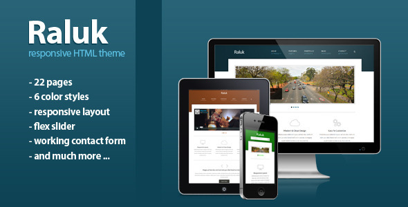 Raluk - Responsive Business Theme Template Corporate
