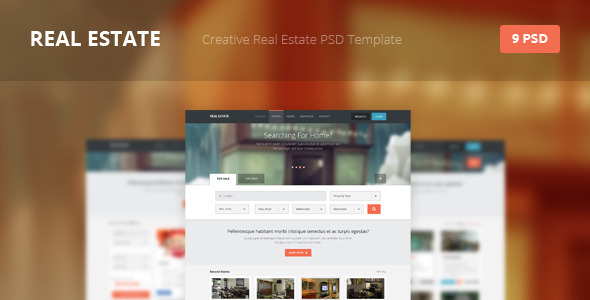 Real Estate - Creative PSD Template Retail