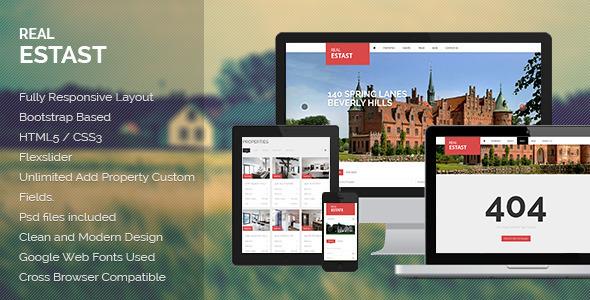 RealEstast Responsive Real Estate Wordpress Theme Corporate