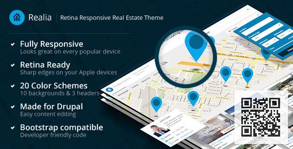 Realia - Retina Responsive Real Estate Theme Drupal Corporate