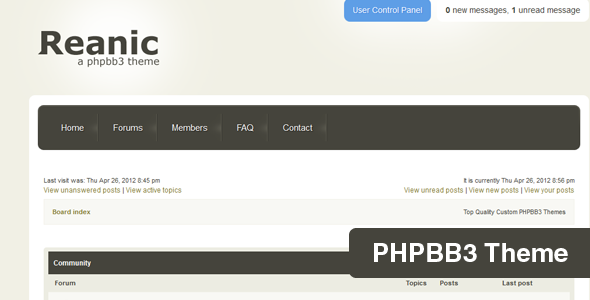 Reanic PHPBB3 Style Forums PhpBB