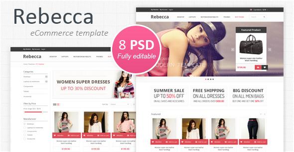 Rebecca - Modern eCommerce PSD Template Retail