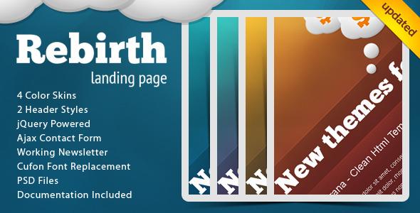 Rebirth Landing Page LandingPages Landing Page
