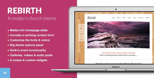 Rebirth - The WordPress Theme for Churches Nonprofit