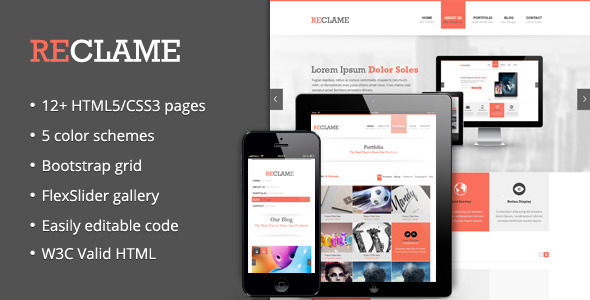 Reclame - Business HTML Template Corporate