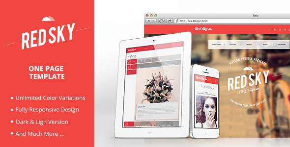 Red Sky One Page Template Creative
