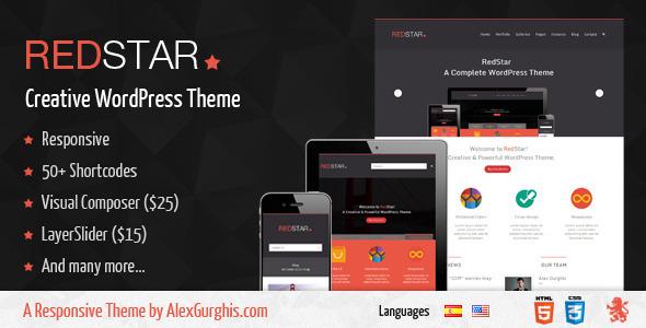 RedStar - A Creative WordPress Theme Creative
