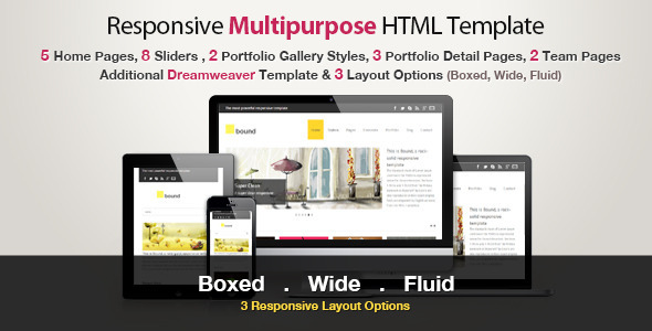 Responsive HTML Template - Bound Corporate