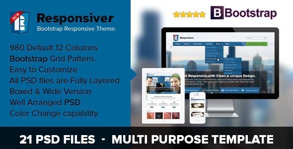 Responsiver Multipurpose Bootstrap PSD Template Corporate