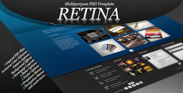 Retina - Multipurpose PSD Template Creative