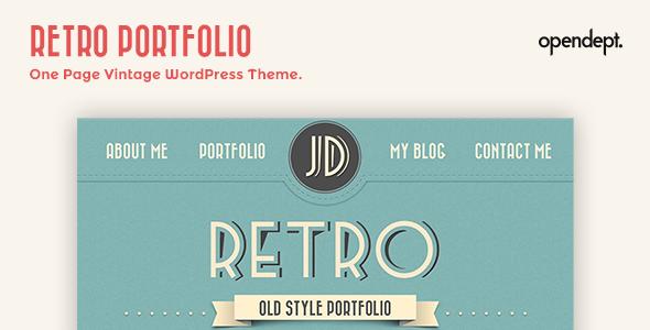 Retro Portfolio - One Page Vintage Wordpress Theme Blog/Magazine
