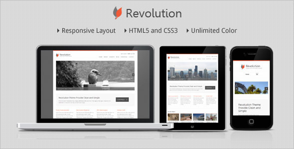 Revolution - Responsive Minimalist WordPress Theme Corporate