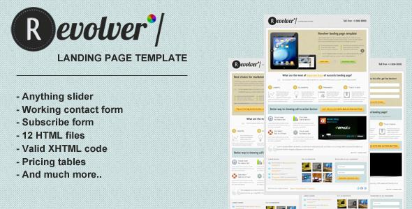 Revolver premium landing page template LandingPages Landing Page