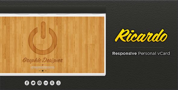 Ricardo - Responsive Personal vCard Template Personal