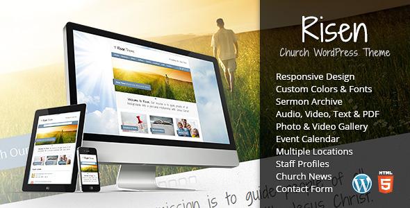 Risen - Church WordPress Theme (Responsive) Nonprofit