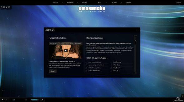 Ritualhealing Musician Template HTML5 CSS3 Creative