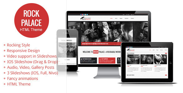 Rock Palace - a Responsive Music HTML Theme Template Entertainment