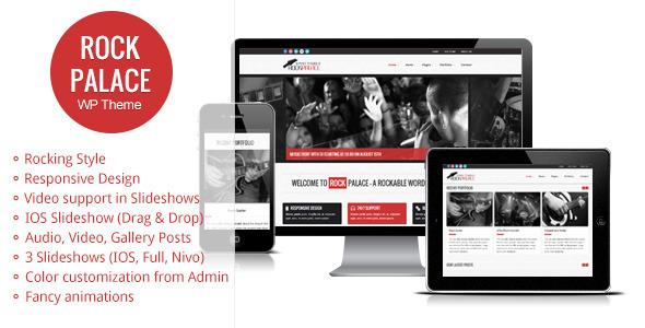 Rock Palace - a Responsive Music Wordpress Theme Entertainment