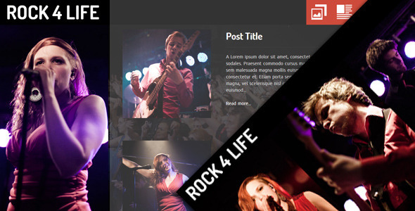 Rock4Life- Responsive Template for Bands/Musicians Entertainment