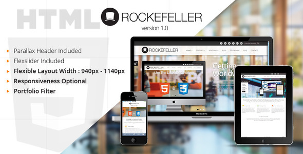 Rockefeller - Flexible & Multipurpose HTML Template