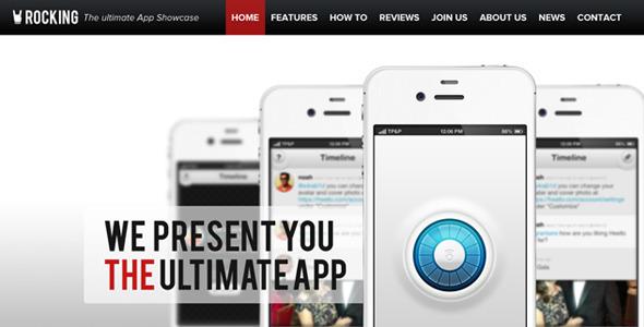 Rocking Parallax iPhone App Showcase HTML5 Template Technology