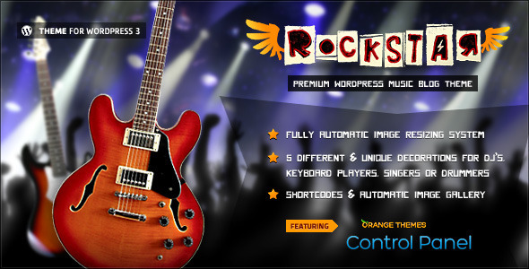 Rockstar - Theme for Music Bands WordPress Entertainment