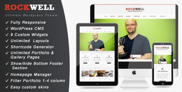 Rockwell - Fully Responsive WordPress CMS Theme Corporate