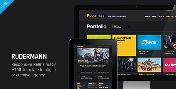 Rudermann - Responsive Retina Ready HTML Template Creative