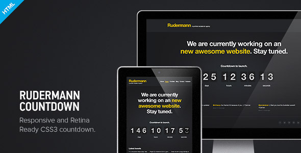 Rudermann Countdown - Under Construction Page Template Specialty Page
